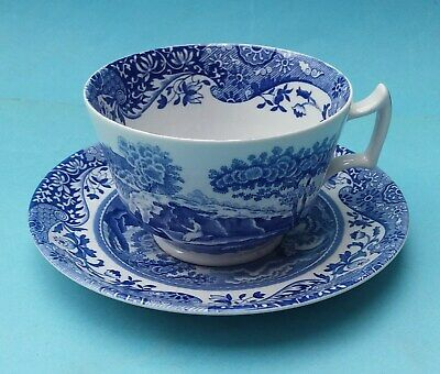 TWO SPODE ITALIAN BREAKFAST CUPS AND SAUCERS FOR oneresearch ONLY