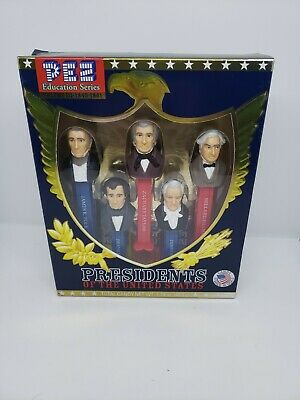 NEW Pez Presidents of the United States Education Series Volume 3: 1845 - 1861
