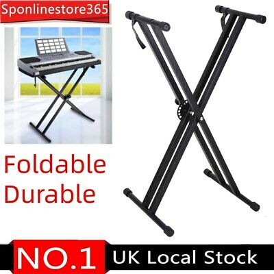 Double-Braced X Frame Keyboard Piano Floor Stand Electric Organ Holder Adjusted