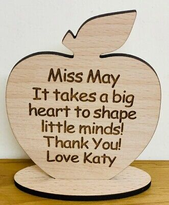 Personalised Gifts For Teacher School Apple Nursery End Of Year Term Christmas