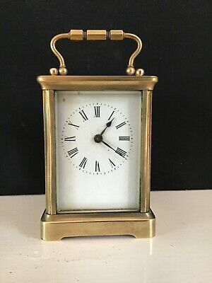 Small Brass - R & Co  PARIS - Wind Up -  Carriage Clock - Working Order