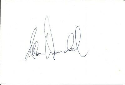 Allan Donald signed card approx 6 x 5 inches. Cricketer E1884