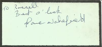 Dave Wakefield signed dedicated piece approx 4 x 2 inches. Boxer E1876
