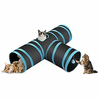 CO-Z Collapsible Cat Tunnel Tube Kitty Bored Pet Toys Peek Hole Ball Cat, Puppy,