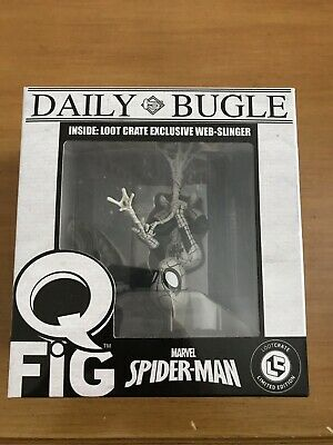 Loot Crate Exclusive June 2017 Spider-Man Webslinger Q-Fig  NEW VERY COLLECTABLE