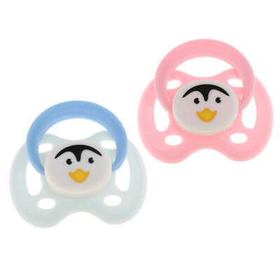 Dummy Supplies 2pcs Cute Magnetic Pacifier for Reborn Baby Dolls