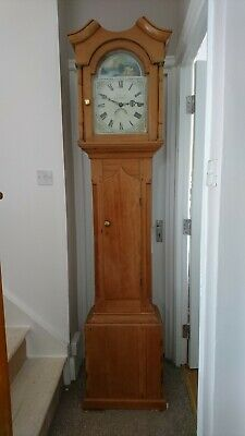 ANTIQUE PINE LONGCASE  CLOCK, 30 Hr