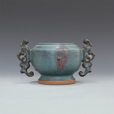 A Fine Collection of Chinese 11thC Song Jun Ware Porcelain Incense Burners