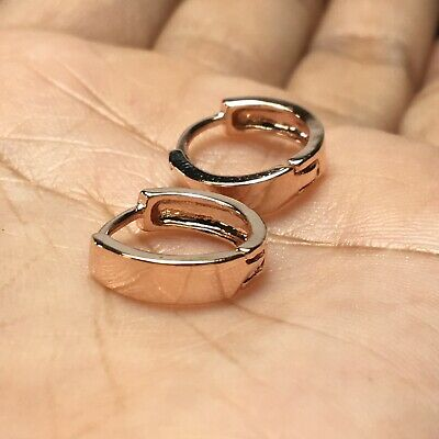 Ring Circle Tiny Hoop Earrings Fashion Small 13mm Huggie Rose Gold Punk Rock Men