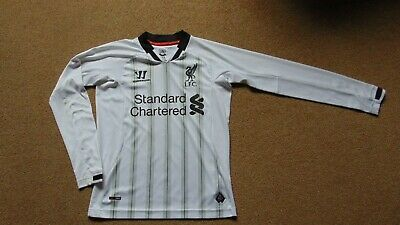 Small Boy's Liverpool 2013-14 Warrior Goalkeepers Long Sleeve Shirt in White