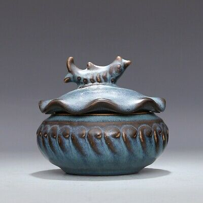 A Fine Collection of Chinese 11thC Song Jun Ware Porcelain Fish Pattern Pots