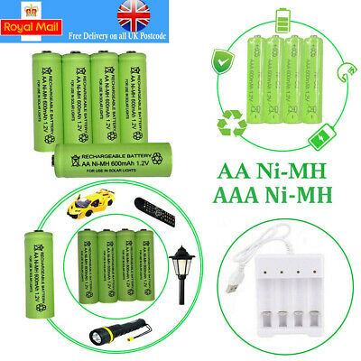 AA-AAA Rechargeable Solar Light Batteries 1.2v 600-700mAh AA NiMH Discount Price
