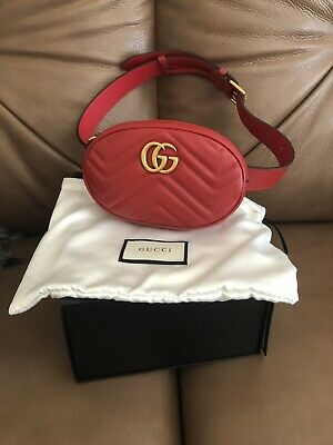 3a870bdbf 100% AUTHENTIC GUCCI GG Marmont Small Matelasse Leather Belt Bag ...