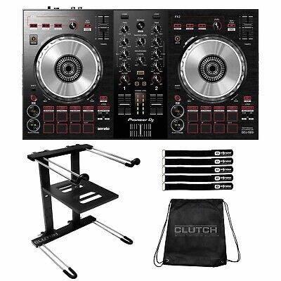Pioneer DDJ-SB3 2-Channel Serato Software DJ Controller Mixer w Laptop Stand