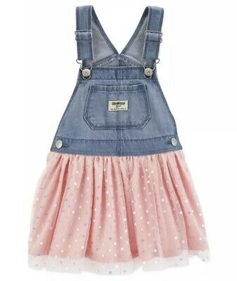 NEW WITH TAGS Baby Girls Oshkosh BGosh Overalls Tulle Jumper Dress - 18 Months