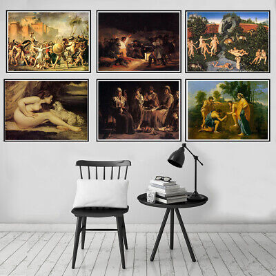Western Classical Canvas Oil Painting Poster Picture Museum Wall Art Decoration