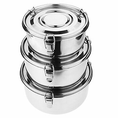 Mecete Stainless Steel Food Storage Containers 304 - Leak-Proof