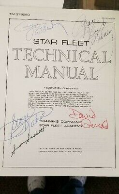 Star Trek Star Fleet Technical Manual 1st Printing 1975 Signed Gene Roddenberry