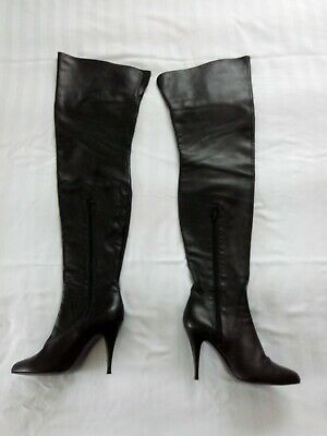 cfc1ef5f758b3 LEDER OVERKNEE STIEFEL Best In The World 1969 Italy X35 Boots Sexy ...
