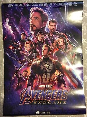 Marvel's Avengers Endgame DS Theatrical Movie Poster 27x40 NEW