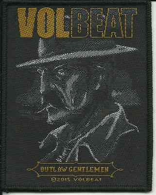 VOLBEAT outlaw gent 2015 - WOVEN SEW ON PATCH official merchandise (sealed)