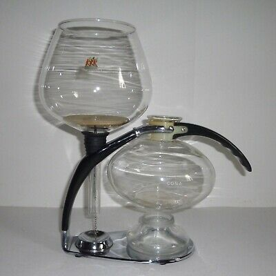 CONA New Model D Cafetiere Coffee Maker Kaffeemaschine Kaffeebereiter Pyrex Glas