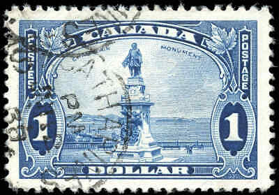1935 Used Canada $1.00 Scott #227 King George V Pictorial Stamp