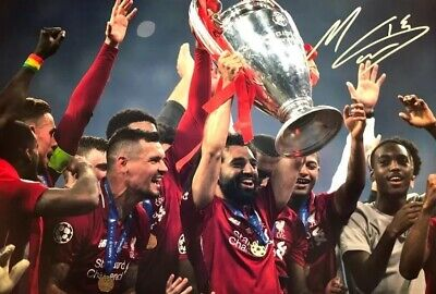 Liverpool Mohamed Salah Original Hand Signed Photo With Coa 12X8