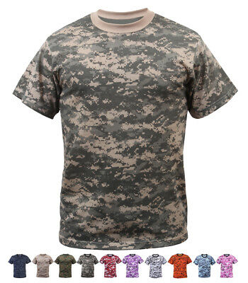 Digital Camo Tactical T-Shirt Camouflage Military Tee Short Sleeve Digi Army