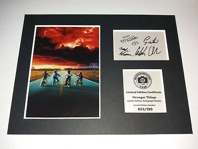 Stranger Things Signed Autograph Display Mounted Memorabilia Limited Edition New