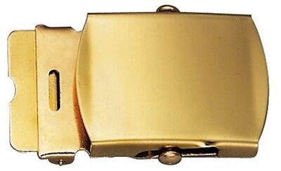 Solid Brass Military Web Belt Buckle 1.25""