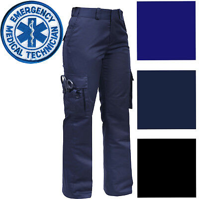 Womens Tactical EMS EMT Pants, Ladies Cargo Uniform 9-Pocket Official Duty Work