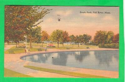 Postcard ~ South Park Fall River, Massachusetts ~ Vintage 7569