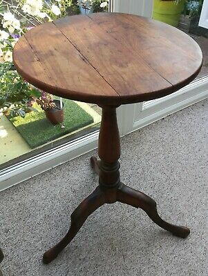 Antique Fruitwood Tripod/Wine Table. First half 19th century, Rustic, Vintage