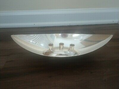 GORHAM Silverplate Bataeu Candle Holder Dish Very Rare Excellent Condition