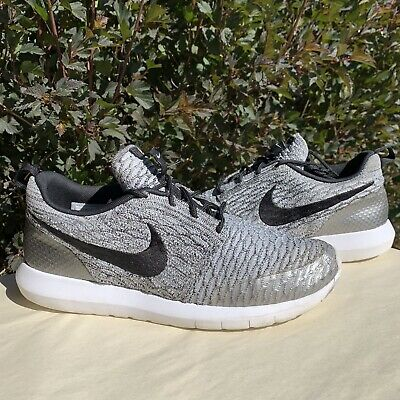 Nike Roshe Nm Flyknit Se Mens Running Shoes Size 9 Wolfe Grey 816531 002