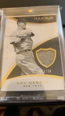 2015 Immaculate Lou Gehrig Yankees Legend Gu Jersey Patch Relic /20! Iron Horse!