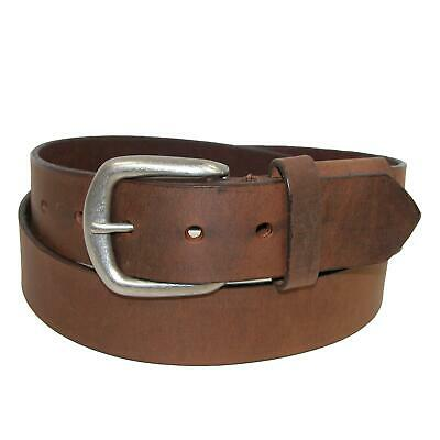 New Boston Leather Men's Aged Bark Chieftain Leather Hidden Stretch Belt