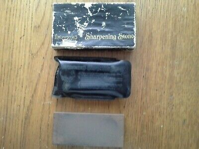 Vintage Sharpening Stone By Browning