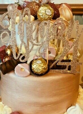Custom Cake Topper Glitter Any word Any name personalised customised birthday