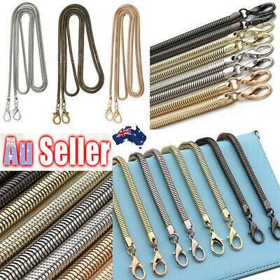 Replacement Bag Strap Snake Chain For Handbag Crossbody Shoulder Bag Purse 120cm