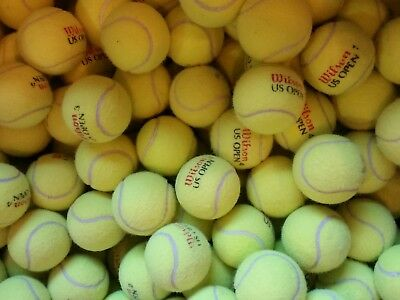 LOT of 50 INDOOR USED TENNIS BALLS - Dogs, Chairs, Walkers, Classrooms, Crafts!!