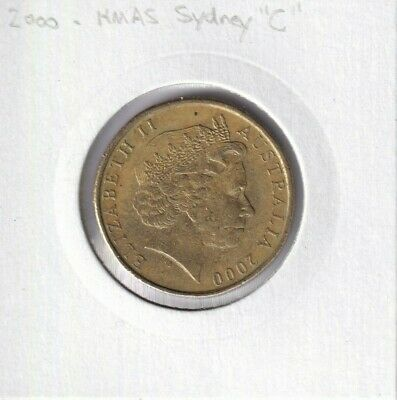 "2000 Australian 1 Dollar Coin - HMAS SYDNEY ""C"" MINTMARK - Not for Circulation"