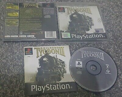 PS1 SONY PLAYSTATION 1 - Railroad Tycoon 2 II - Black Label - Complete