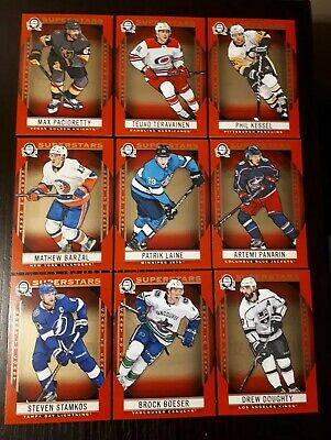 Lot Of 9 / 2018-19 Canadian Tire Opc Coast To Coast Superstars Red Parallels Sp