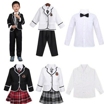 Kids Boys Girls School Uniform Anime Costume Coat Shirt Pants/Skirt Cosplay Set