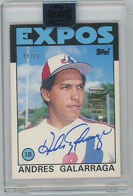 Andres Galarraga 2018 Topps Archives Signature Series Rookie Auto #19/22 Dwhe
