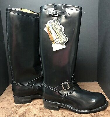 402c016c34b CHIPPEWA MENS SIZE 11D Rally 27862 Black Leather Motorcycle Boots ...