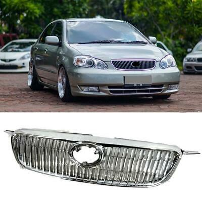 For TOYOTA COROLLA 2003-2008 ALTIS CHROME & BLACK GRILL FRONT UPPER MESH GRILLE