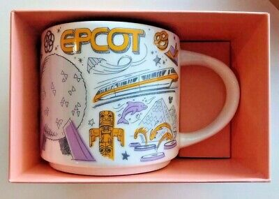 Disney Parks Starbucks BEEN THERE Series 2019 EPCOT Retro Ceramic Coffee Mug NEW
